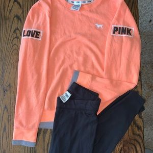 PINK by Victoria's Secret crewneck and legging set
